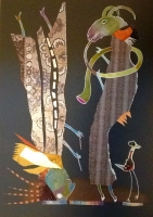 Collage auf Karton, 65cm x 50cm